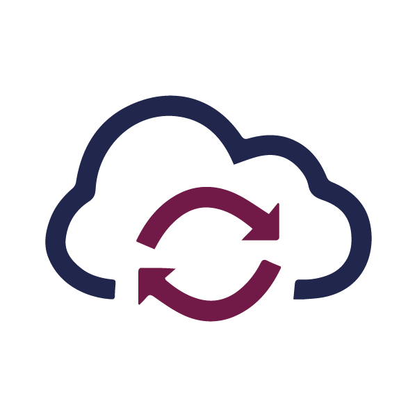 Cloud based Customer Management System Icon