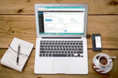 Laptop Screen on a desk
